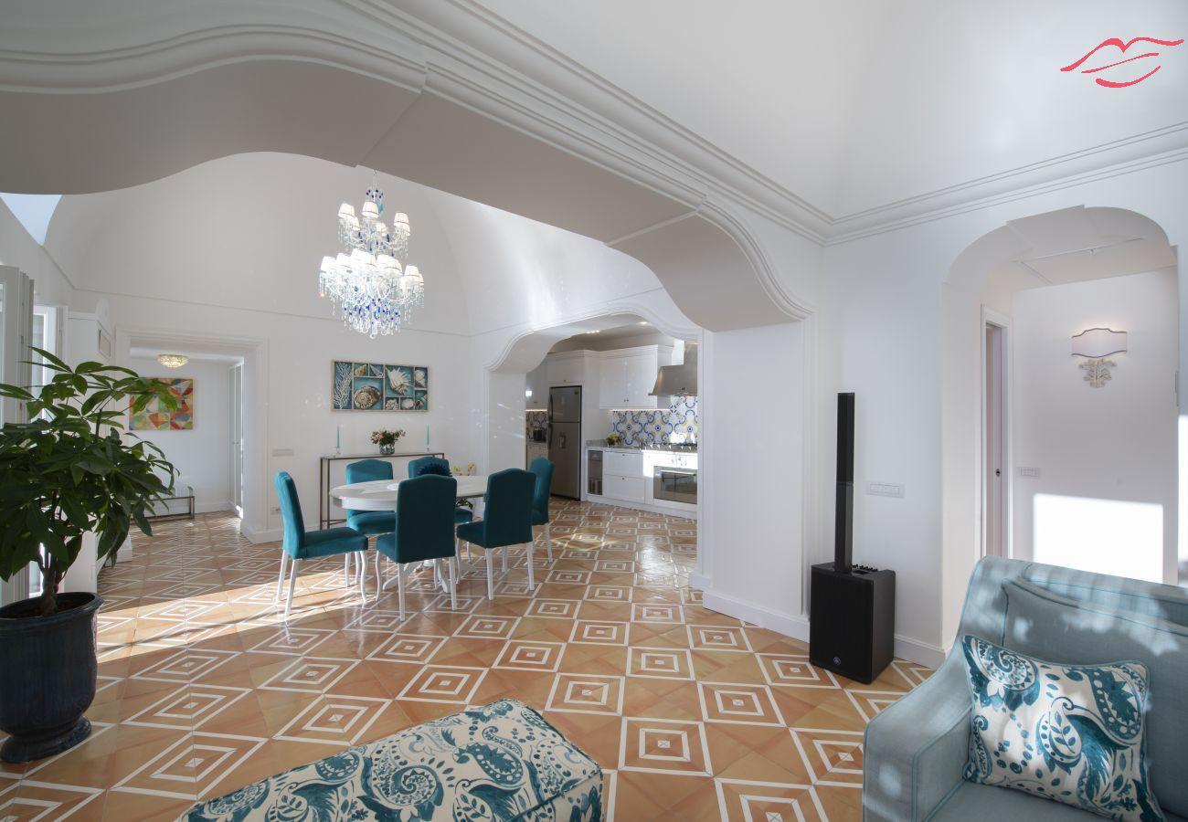 Villa in Praiano - Luxury Villa Malika - Breathtaking view of Capri and Positano
